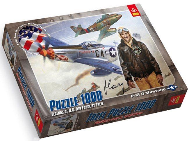 Puzzle TREFL 1000 dílků - P-51 D Mustang