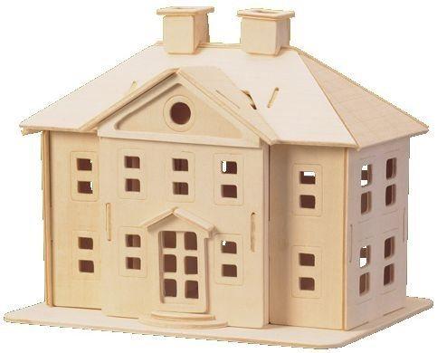 3D dřevěné puzzle Vila