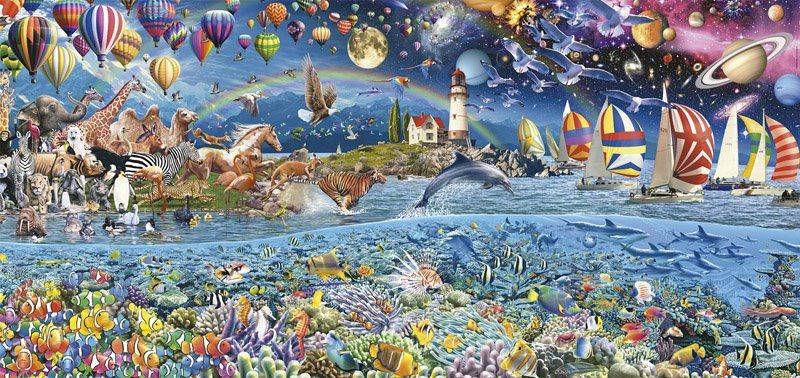 Panaromatické puzzle EDUCA 17132 Život 3000 dílků