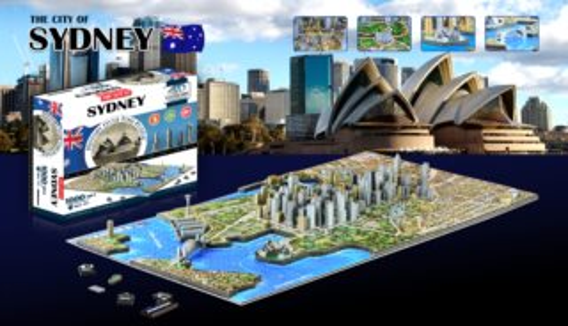 4D Cityscape Time puzzle - Sydney 1023 dílků