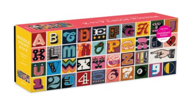 GALISON Panoramatické puzzle Abeceda a číslice 1000 dílků
