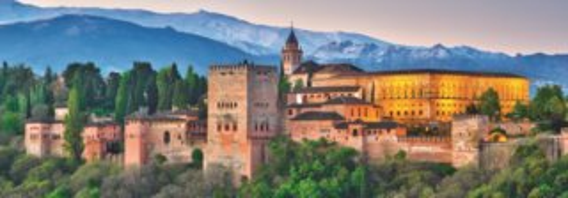 Panoramatické puzzle JUMBO 18574 Alhambra, Španělsko 1000 dílků