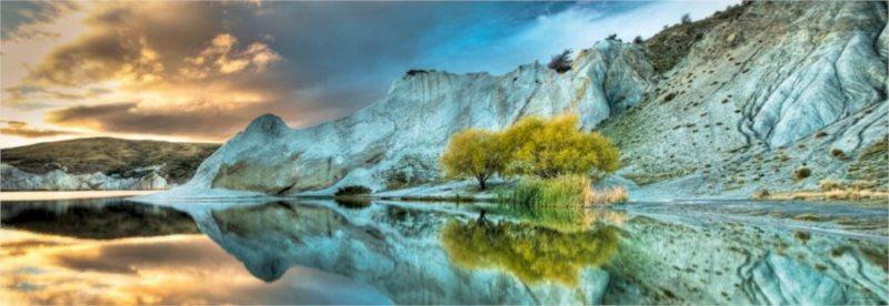 Panoramatické puzzle HEYE 1000 dílků - Modré jezero, Nový Zéland