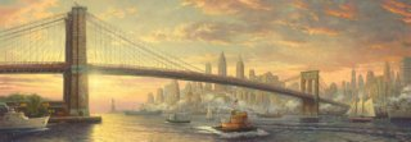 SCHMIDT Panoramatické puzzle Brooklynský most, New York 1000 dílků
