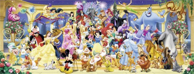 RAVENSBURGER Panoramatické puzzle Disney - Rodinná fotka 1000 dílků