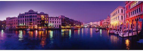 SCHMIDT Panoramatické puzzle Kanál Grande, Benátky 1000 dílků