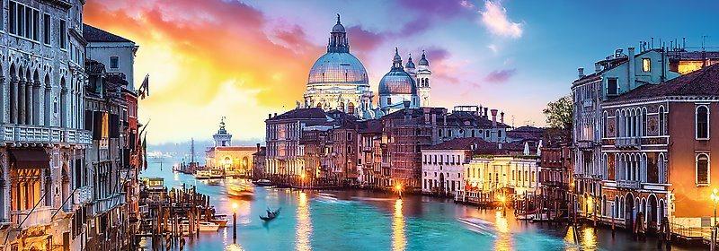 TREFL Panoramatické puzzle Kanál Grande, Benátky 1000 dílků