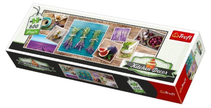 TREFL Panoramatické puzzle Kitchen Decor: Bylinky 600 dílků