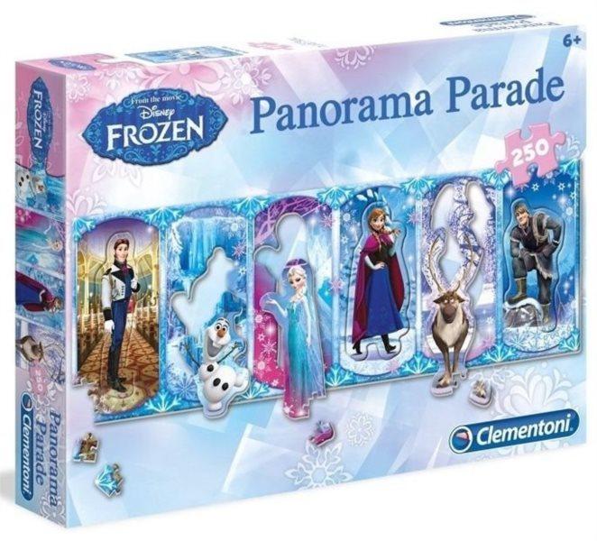 CLEMENTONI Panoramatické puzzle Ledové království 250 dílků