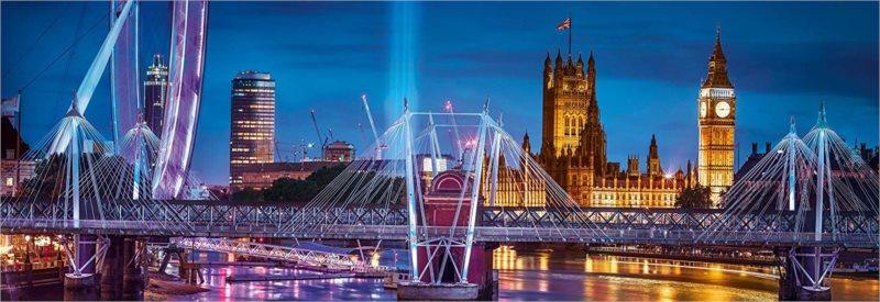 CLEMENTONI Panoramatické puzzle Londýn 1000 dílků