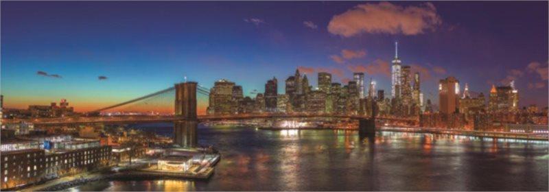 JUMBO Panoramatické puzzle Most přes Hudson, New York 1000 dílků