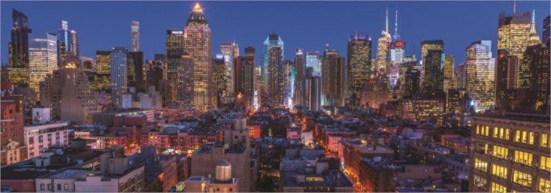 JUMBO Panoramatické puzzle New York, USA 1000 dílků