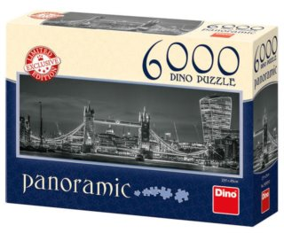 DINO Panoramatické puzzle Noční Londýn 6000 dílků