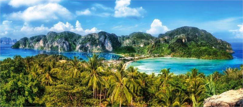 CASTORLAND Panoramatické puzzle Ostrov Ko Phi Phi, Thajsko 600 dílků