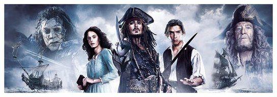 Panoramatické puzzle DINO 1000 dílků - Piráti z Karibiku: Salazarova pomsta