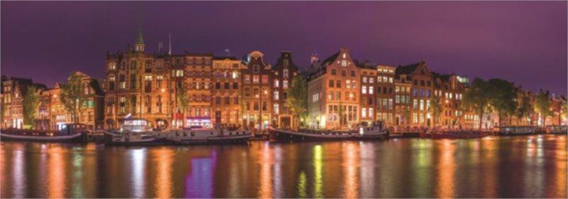 JUMBO Panoramatické puzzle Pohled na Amsterdam 1000 dílků