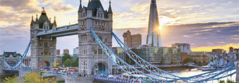 JUMBO Panoramatické puzzle Tower Bridge, Londýn 1000 dílků