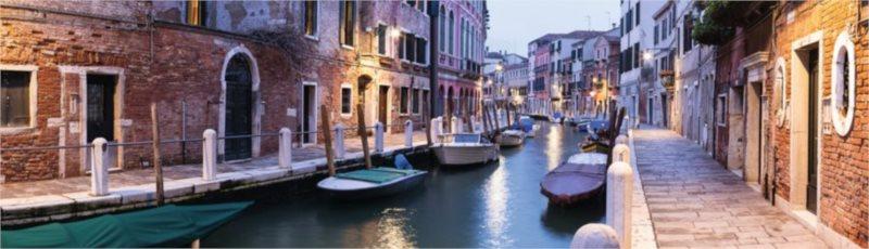 RAVENSBURGER Panoramatické puzzle Večer v Benátkách, Itálie 2000 dílků