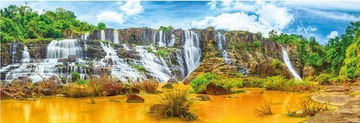DINO Panoramatické puzzle Vodopády Pongour 1000 dílků