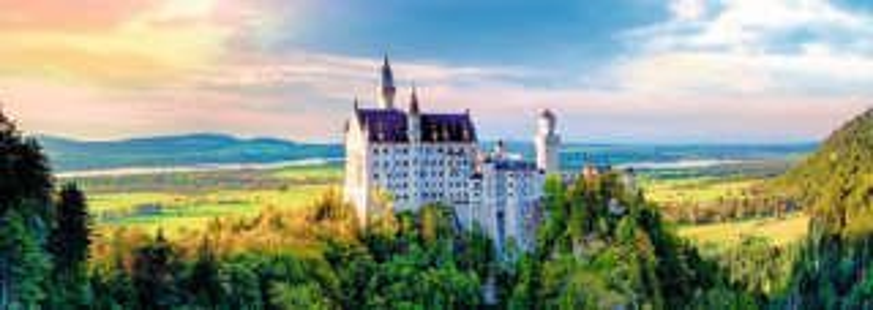TREFL Panoramatické puzzle Zámek Neuschwanstein 1000 dílků