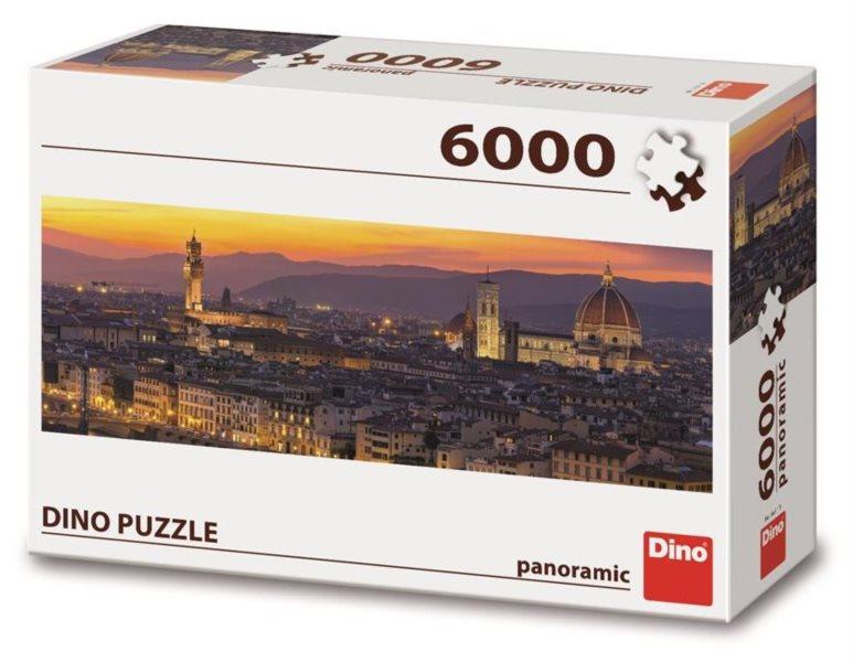 DINO Panoramatické puzzle Zlatá Florencie 6000 dílků