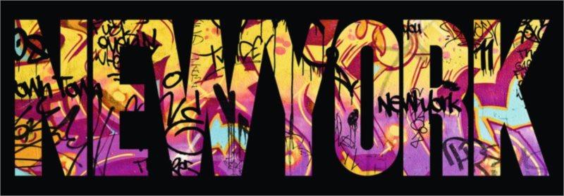 RAVENSBURGER Panoramatické puzzle New York Graffiti 500 dílků