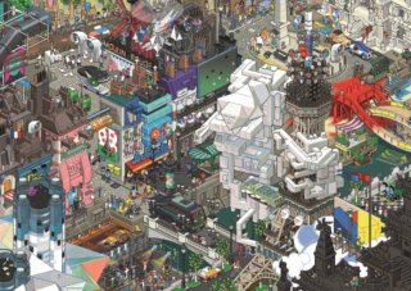 Puzzle HEYE 1500 dílků - eBoy, Paříž , Triangular