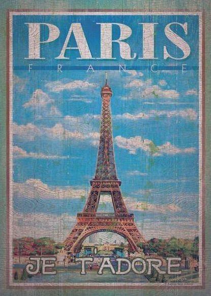 CLEMENTONI Puzzle s imitací dřeva Paříž 500 dílků