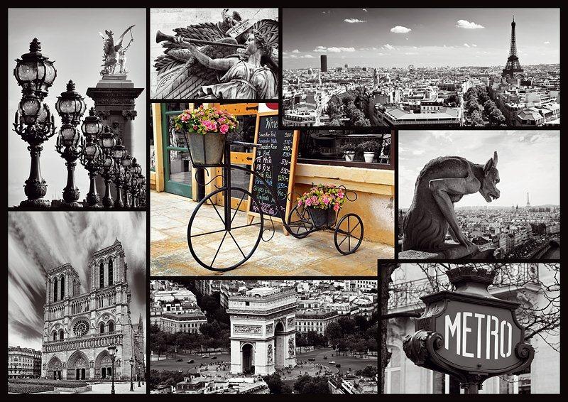 Puzzle TREFL 1000 dílků - Paříž - koláž