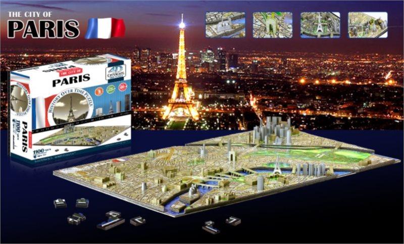 4D PUZZLE Cityscape Paříž