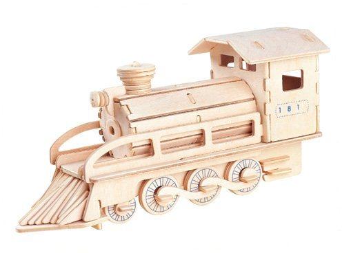 WOODEN TOY , WCK 3D puzzle Parní lokomotiva