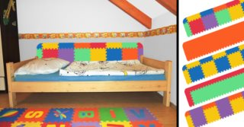 MALÝ GÉNIUS Pěnová ochrana zdi za postel - rovná