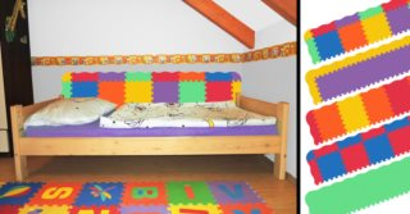 MALÝ GÉNIUS Pěnová ochrana zdi za postel - vlnka