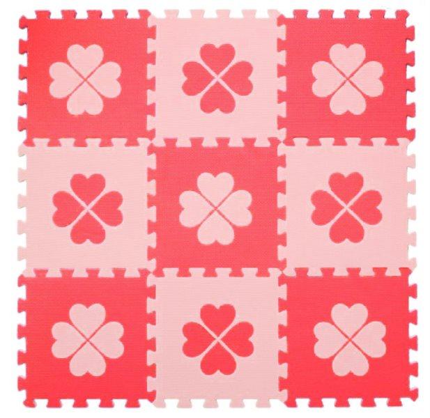 Pěnové BABY puzzle Červené čtyřlístky Č (29,5x29,5)