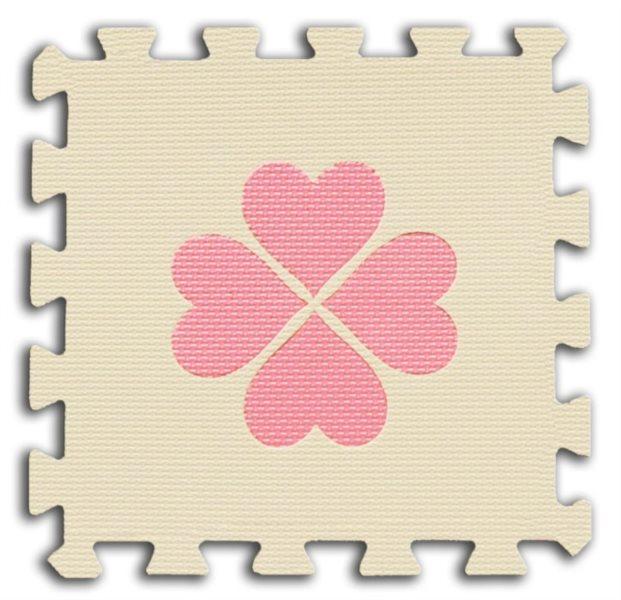 Pěnové BABY puzzle Čtyřlístky 1 díl (béžový)