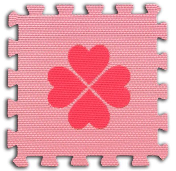 Pěnové BABY puzzle Čtyřlístky 1 díl (růžový)