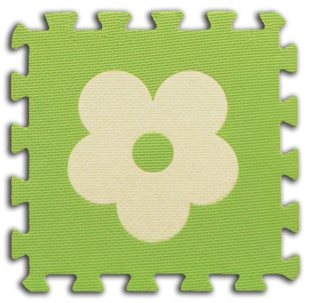 Pěnové BABY puzzle Kytičky 1 díl (zelený)