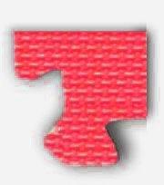 Pěnové BABY puzzle - rohový dílek červený (od 3 let)