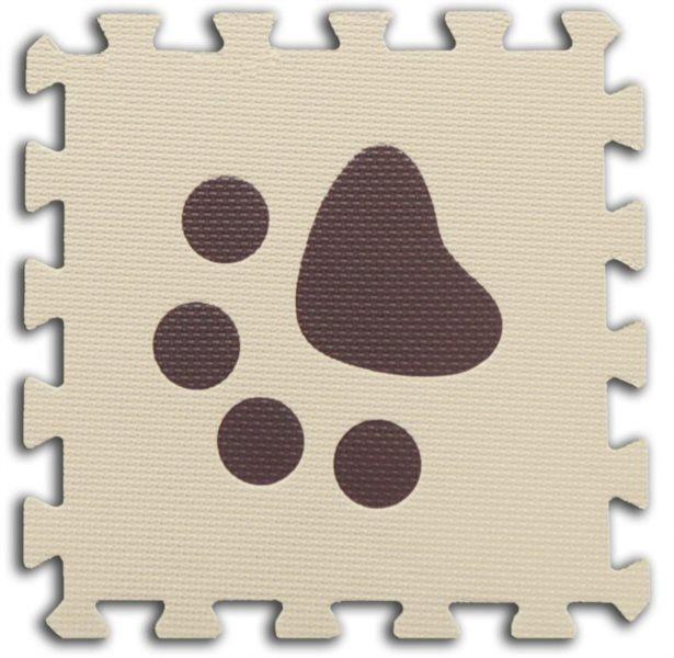 Pěnové BABY puzzle Tlapky 1 díl (béžový)