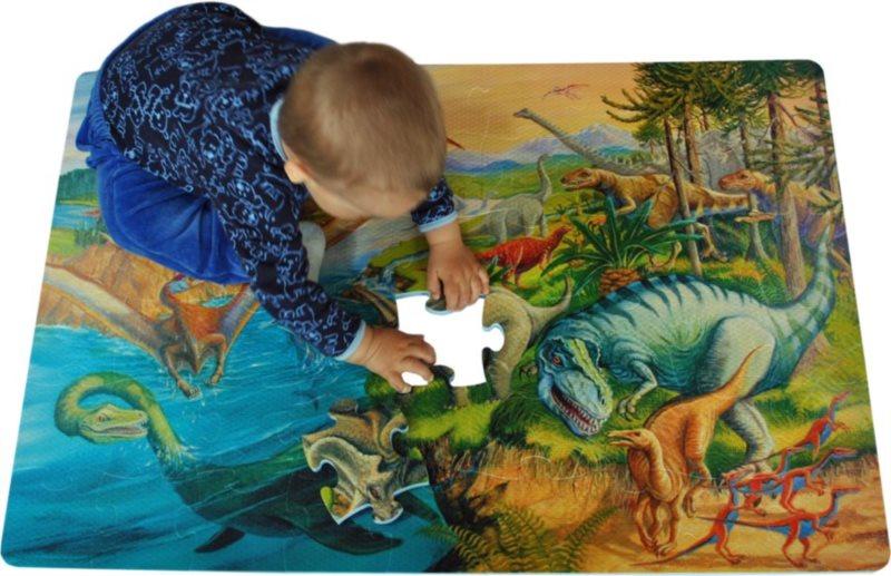 Pěnové podlahové puzzle, Dinosauři (90x60)