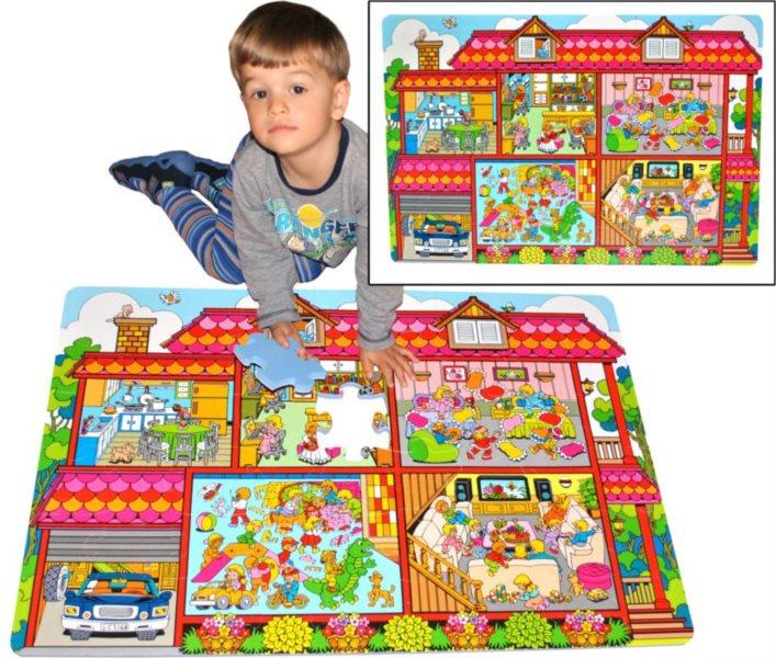 Pěnové podlahové puzzle Domeček (90x60)