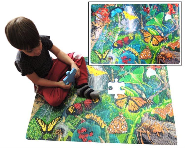 Pěnové podlahové puzzle Hmyz 54 dílků