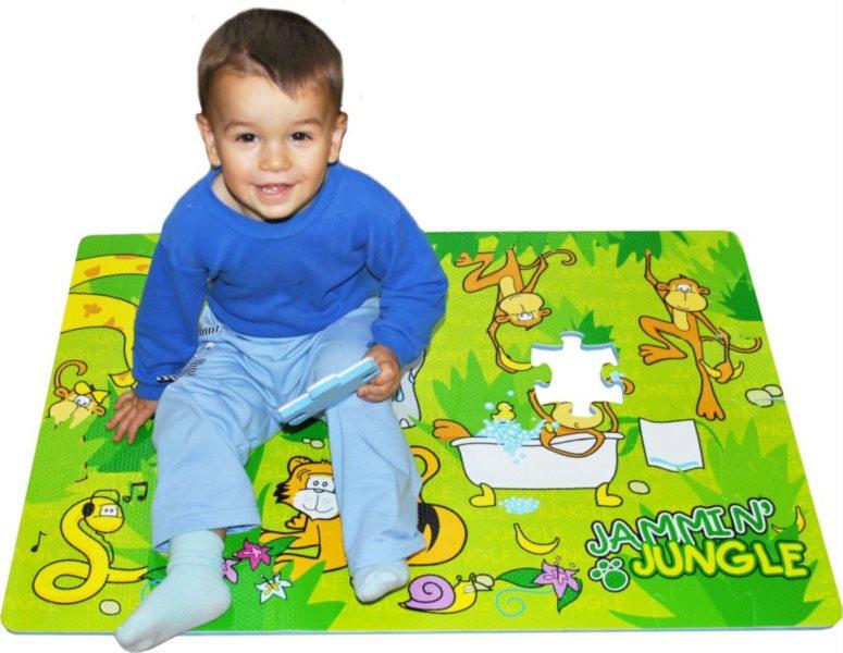 Pěnové podlahové puzzle, Jungle (90x60)
