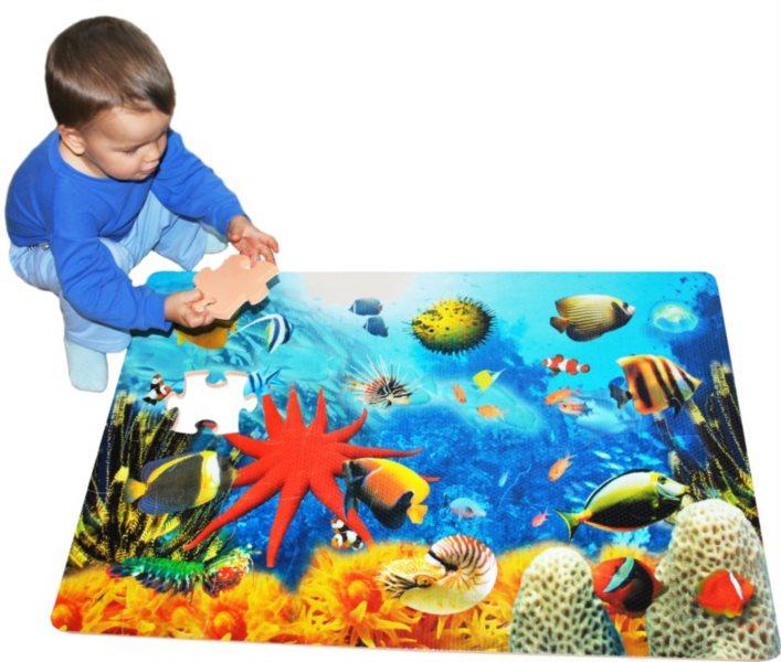 Pěnové podlahové puzzle, Moře (90x60)