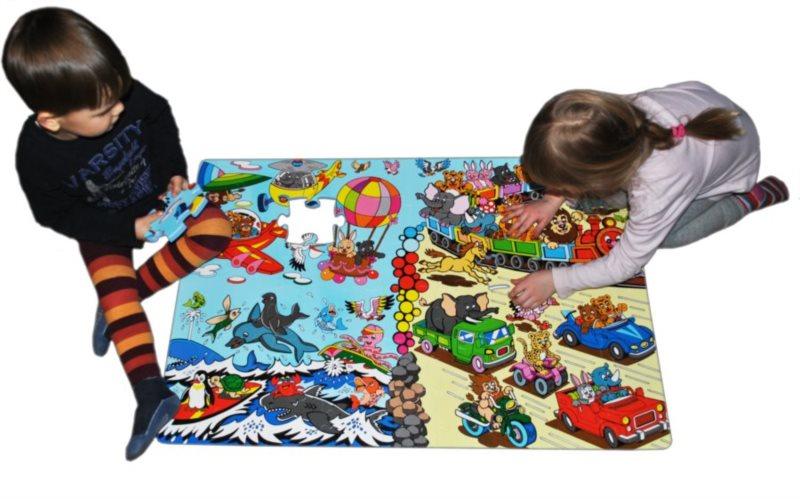 Pěnové podlahové puzzle Závody 54 dílků