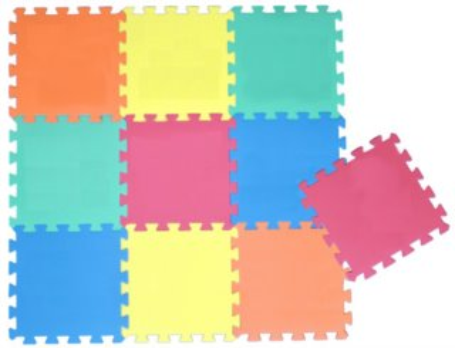 SUN TA TOYS Pěnové puzzle 5 barev (30x30)