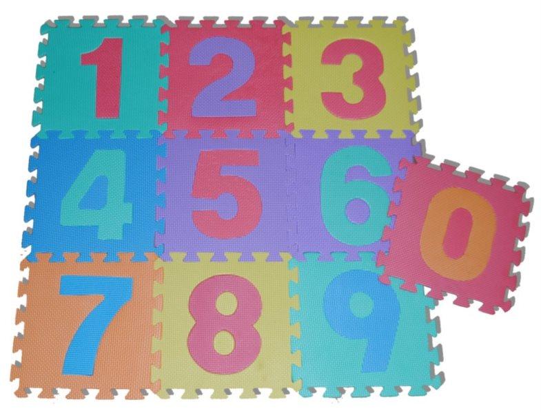 TEDDIES Pěnové puzzle Čísla (27x27)