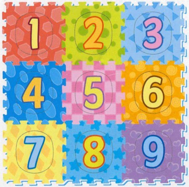 SUN TA TOYS Pěnové puzzle Barevná čísla (29x29)