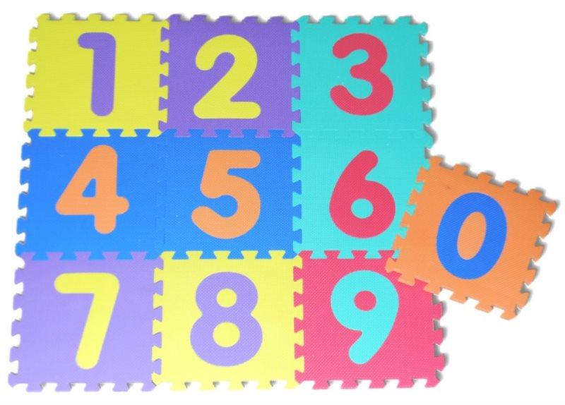 Pěnové puzzle Čísla (30x30)