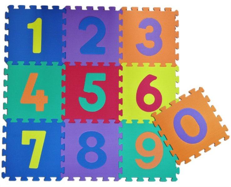 Pěnové puzzle, Čísla I (díl 30x30cm)